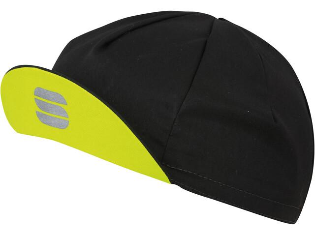 Sportful Infinite Cap Black/Yellow Fluo